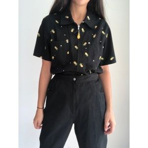 Vintage The Quacket Factory Pineapple pant suit M